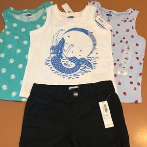 Girls Size 3T Summer Bundle! 3 Tank Tops & Shorts